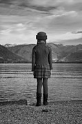 Standing Framed Prints - Girl At A Lake Framed Print by Joana Kruse