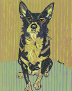 Acrylics Posters - Girl Dog of My Dreams Poster by David  Hearn