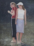 Summer Fun Painting Originals - Girl Friends by Masami Iida