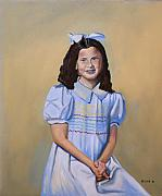Keith Painting Originals - Girl in Blue by Keith Bagg