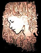 Girl In City Print by Gabe Art Inc