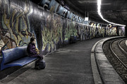 Graffiti Art - Girl In Station by Joana Kruse