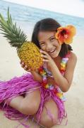 Pineapple Prints - Girl in Tropical Paradise Print by Brandon Tabiolo - Printscapes