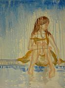 Raining Paintings - Girl Lonely by Laura Johnson