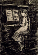 Prostitutes Paintings - Girl Playing The Piano by Ricardo Di ceglia