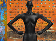 Figurative Art Mixed Media Posters - Girl Power Poster by AdSpice Studios