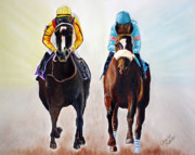 Kentucky Derby Prints - Girl Power Print by Jennifer Morrison Godshalk
