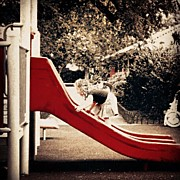 Children Photos - #girl #red #slide #kids #children #rojo by Karla Millano