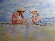 Talking Painting Acrylic Prints - Girl Talk Acrylic Print by Mary Dunham Walters