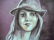 Aleksandra Buha Art - Girl with a Hat by Aleksandra Buha