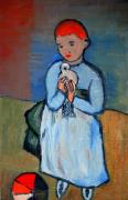 Masterpiece Originals - Girl with dove after Picasso by Kostas Koutsoukanidis