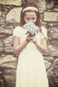Smell Prints - Girl With Hydrangea Print by Joana Kruse