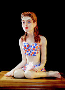 Girl With Lotus 1 Print by Yelena Rubin