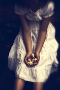 Snails Photos - Girl With Sea Shells by Joana Kruse