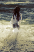 North Sea Photo Prints - Girl With Teddy Print by Joana Kruse