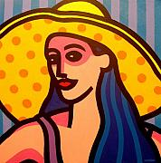 Girl With Yellow Hat Print by John  Nolan