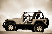 Warn Prints - girls and Jeeps  Print by Scott Sawyer