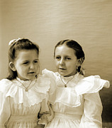 Necklace Photo Originals - Girls in Sunday Whites by Jan Faul