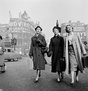 Town Square Prints - Girls In Town Print by Harry Kerr