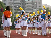 Woodwind Photos - Girls Marching Band by Yali Shi