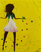 Dancing Girl Paintings - Girls Night Out II by Daniel MacGregor