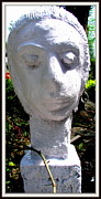 Stones. Sculpture Prints - Girlwith Shy Print by Anand Swaroop Manchiraju