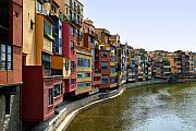 Girona Riverfront Print by Mathew Lodge