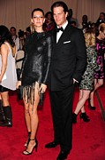Tom Brady Prints - Gisele Bundchen In Alexander Wang, Tom Print by Everett