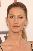 Film Camera Prints - Gisele Bundchen In Attendance Print by Everett