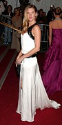 Gisele Bundchen Prints - Gisele Bundchen Wearing An Yves Saint Print by Everett