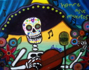 Serenata Posters - Gitarero Day Of The Dead Poster by Pristine Cartera Turkus