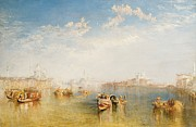Calm Paintings - Giudecca La Donna della Salute and San Giorgio  by Joseph Mallord William Turner