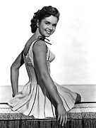 Striped Dress Art - Give A Girl A Break, Debbie Reynolds by Everett