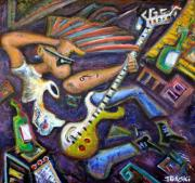 Distortion Painting Prints - Give Em The Boot - Punk Rock Cubism Print by Jason Gluskin
