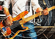 Guitar Digital Art Originals - Give It Some Bass by Tilly Williams