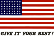 American Flag Digital Art Posters - Give It Your Best American Flag Poster by War Is Hell Store