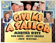 Grable Posters - Give Me A Sailor, Betty Grable Left Poster by Everett