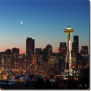 Space Needle Framed Prints - Give Me Liberty...and Nothing Else. Framed Print by Doug van Kampen, van Kampen Photography