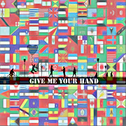 Help Digital Art Posters - Give me your hand Poster by Stefan Kuhn