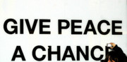 Urban Art Mixed Media Metal Prints - Give Peace a Chance Photographer Metal Print by Anahi DeCanio