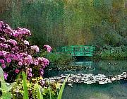 Giverny Prints - Giverny Bridge Print by Joe Bonita