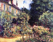 Cottage Country Paintings - Giverny by Claude Monet