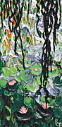 Lilly Pond Paintings - Giverny II by Cherie Duty