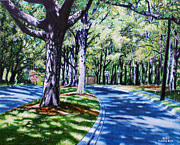 Suburbs Paintings - Giverny by Jerry Kirk