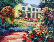 Himself Paintings - Giverny Rose Standard by Mark King