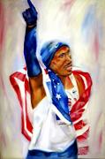 Marathon Painting Originals - Giving Glory to God by Sandy Ryan
