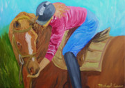 Mustang Paintings - Giving Sugar by Michael Lee
