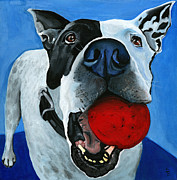 Painter And Dog Art - Gizmo by Debbie Brown