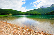 High Top Framed Prints - Glacial Black lake in Durmitor  Framed Print by Roman Rodionov