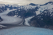 Glaciers Prints - Glacial Curves Print by Mike Reid